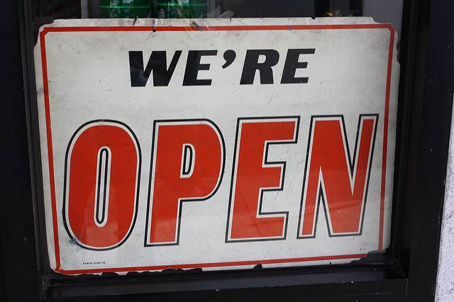 Signage: We are Open